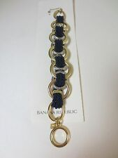 Banana Republic Double Link Gold Silver navy Rope Toggle Bracelet NWT $45