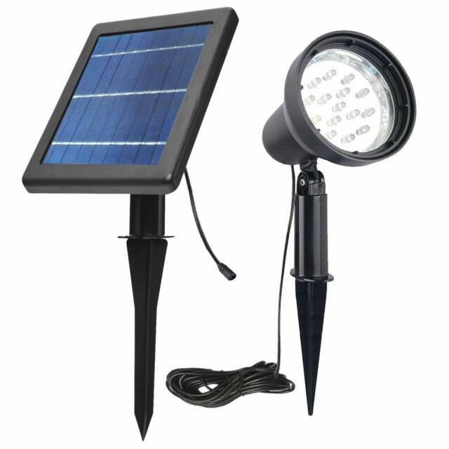 Outdoor Garden Yard Commercial Ultra Powerful 8 Bright LED Solar Flagpole Lights