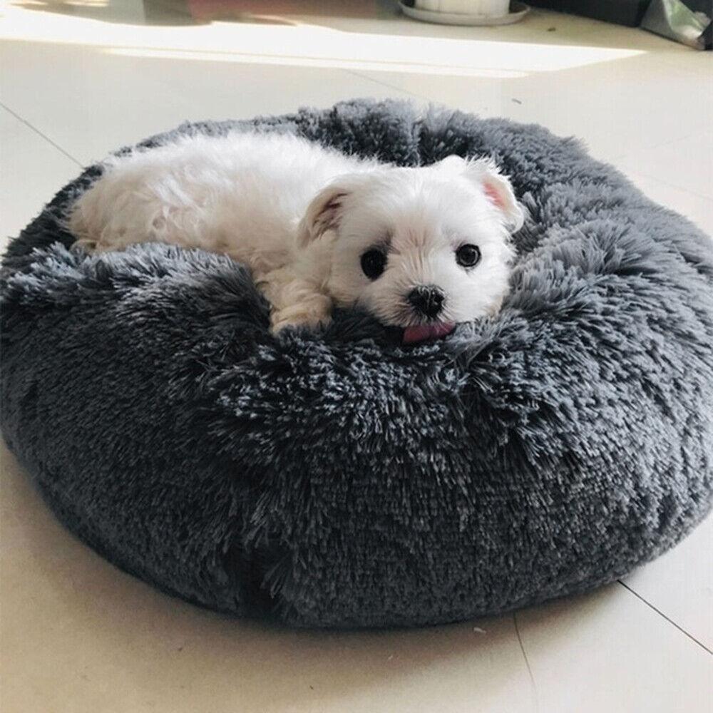 UK Comfy Calming Dog/Cat Bed Round Super Soft Plush Pet Bed  Cat Bed 6
