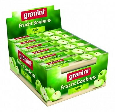Box with 20 Rolls GRANINI filled Fruit Candies (Apple) with Vitamin C  New