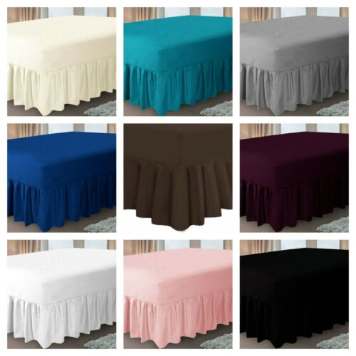 100/% PolyCotton Extra Deep Fitted Valance Sheets Bed Sheet Single Double King