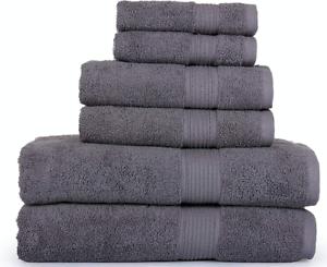 SPRINGFIELD LINEN 6 Piece Towels Set 2 BATH TOWEL, 2 HAND TOWEL AND 2 WASHCLOTHS
