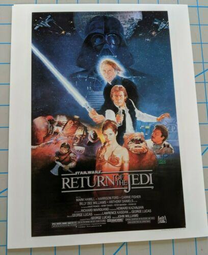 Return of the Jedi New Art Print 1983 Promo Poster for Star Wars VI
