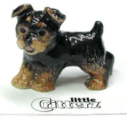 "Little Critterz Miniature Porcelain Animal Yorkshire Terrier Puppy /""Smoky/"" LC805"