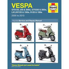 HAYNES MANUAL Vespa GTS GTV LX S 125-300cc Scooter 2005-14