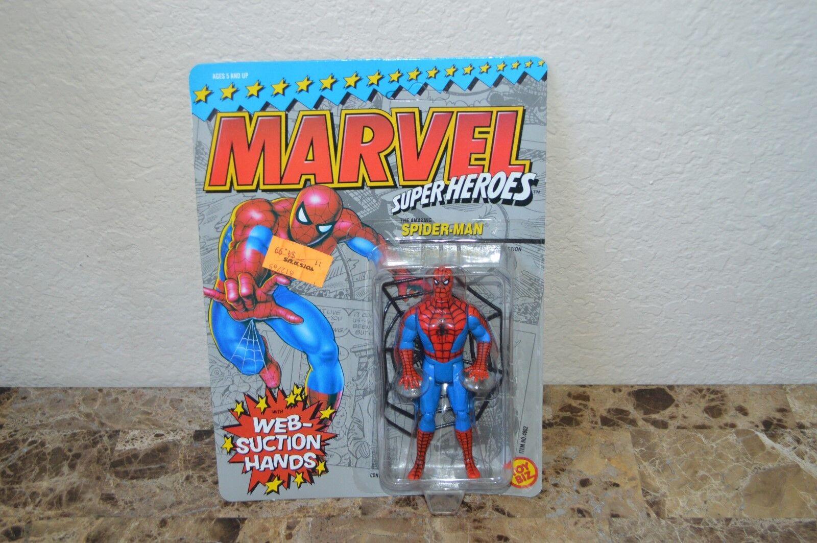 Vintage Marvel Giocattolo Biz Supereroi Spider-Man + Web Aspirazione Hands