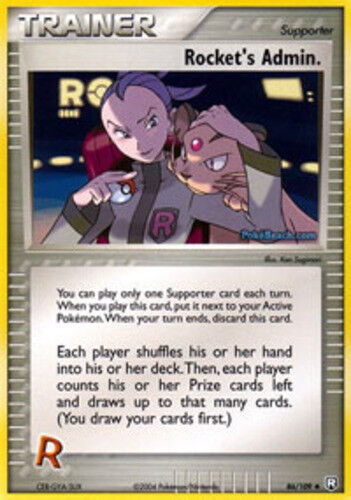 - 86//109 Rocket/'s Admin Uncommon Near Mint Pokemon