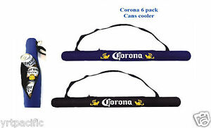 Corona Extra 6 Pack Cans Cooler Insulated Black or Blue