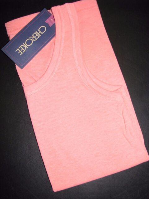 ad41a06dd08 Cherokee Girls Rib Knit Tank Top - Moxie Peach - NWT - Girls Size L+ (