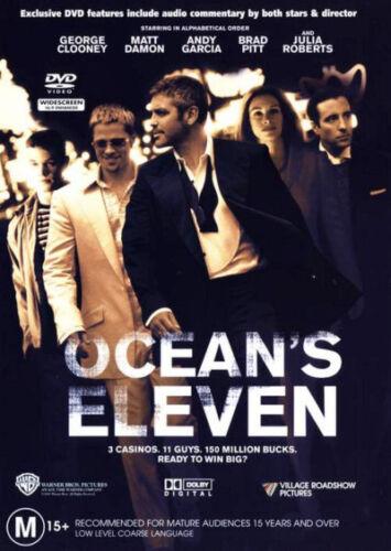 1 of 1 - Ocean's Eleven (2001) George Clooney, Brad Pitt - NEW DVD - Region 4