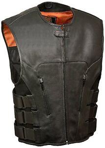Men's SWAT Style Zipper Front Vest Large