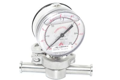 Analytisch Anderson 0314183 Pressure Gauge Indicator 0-60 Psi Fluid Line Technology Fitting