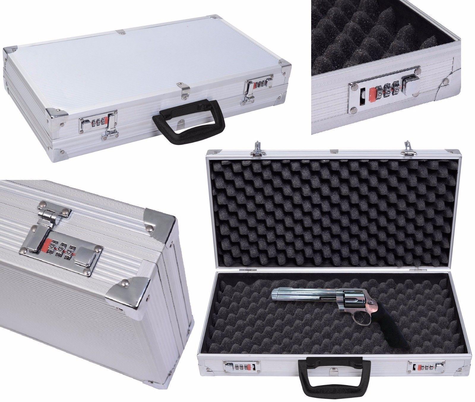 Caja De Aluminio De 19 Con Cierre De Seguridad Para Arma Estuche De Transporte Ebay