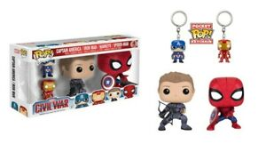 Pop-Marvel-Civil-War-Captain-America-Iron-Man-Hawkeye-Spider-Man-4-Pack-NEW