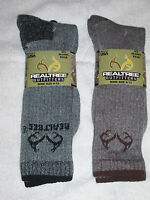 2 Pair Realtree Socks -tall Boot - Slightly Irregular - Black/brown 9 - 13