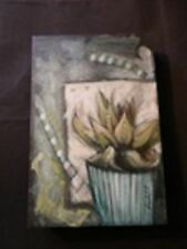 Aloe Vera House Plant – Kendall Thomson Oil on Canvas Signed Kendall