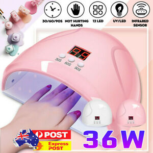 36w led uv nail polish dryer light lamp gel acrylic curing