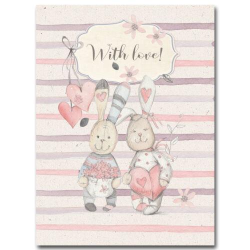 Rabbit Flower Cartoon Art Canvas Poster Nursery Print Nordic Kids Bedroom Decor