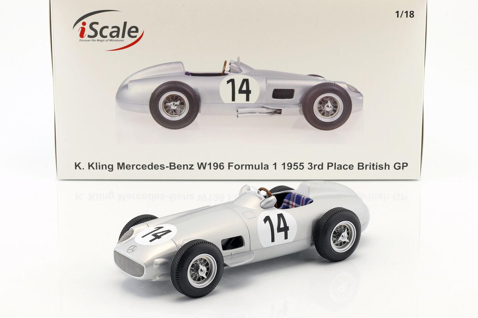 Karl ça Mercedes-Benz w196  14 3rd British GP Formule 1 1955 1 18 iScale