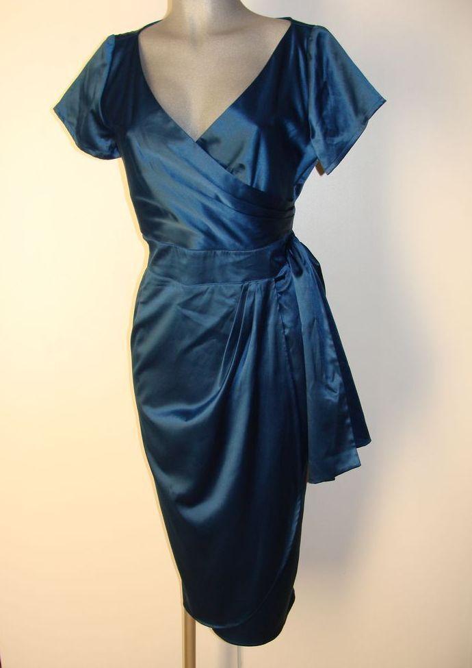 súper estuche brillo satinado vestido de talla  XL de pinup Couture en azul nuevo ii23  A la venta con descuento del 70%.