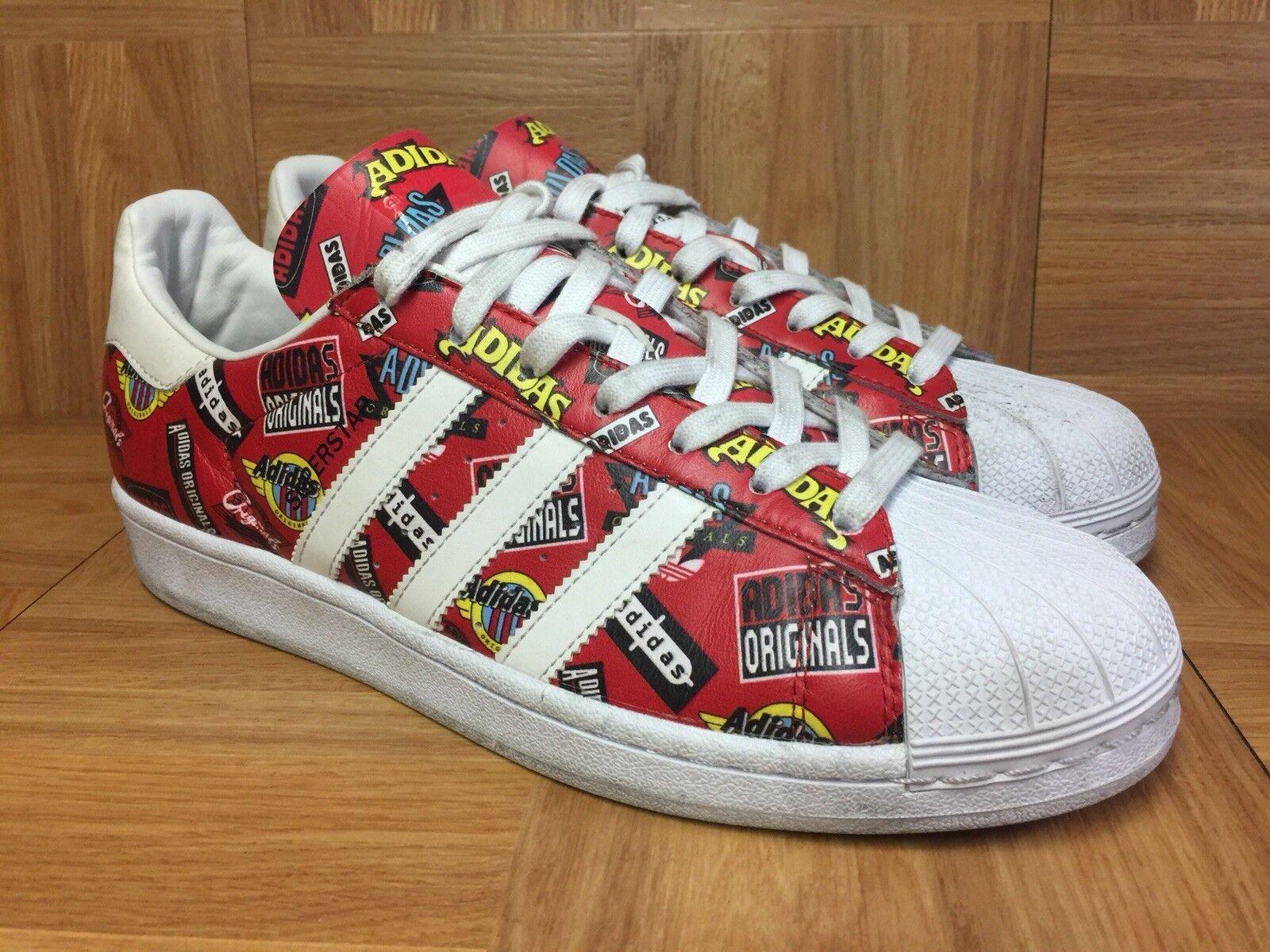 RARE Adidas Originals Superstar NIGO All Around Print Sz 8.5 S83388 Men's shoes