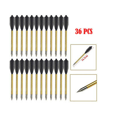 """60 X 6.5/"""" PISTOL CROSSBOW BOLTS PLASTIC WITH STEEL TIPS HUNTING ARROWS 50-80LB"""