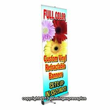 33x79 Retractable Roll Pop Up Banner Stand Trade Show Sign Display Free Design