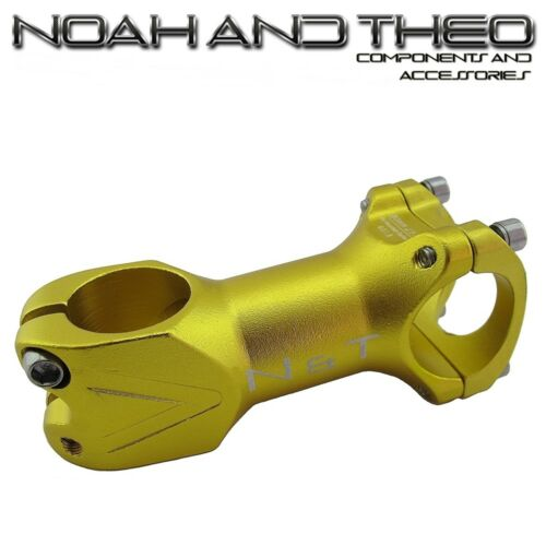 """N/&T Bicycle 80mm Stem 28.6mm or 1-1//8/"""" to 31.8mm Cycling Road Handlebar MTB GOLD"""