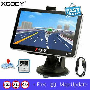 "5"" SAT NAV 8GB Car Truck HGV LGV GPS Navigation UK EU Lifetime Map POI XGODY 560"