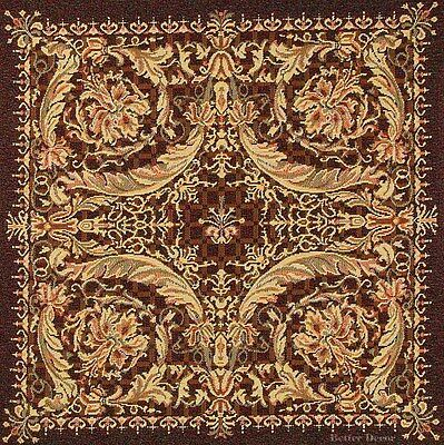 """20"""" DECORATIVE TAPESTRY PILLOW COVER Medieval Ornament EUROPEAN CUSHION ACCENT"""
