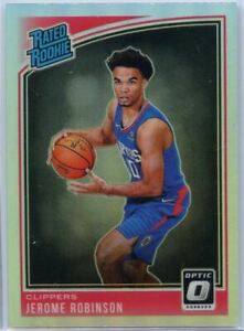 Jerome Robinson HOLO SILVER PRIZM RATED ROOKIE Card #152 2018-19 Donruss Optic
