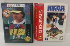 Tony Larussa + World Series Baseball 95 Sega Genesis Working Tested 2 Game Lot