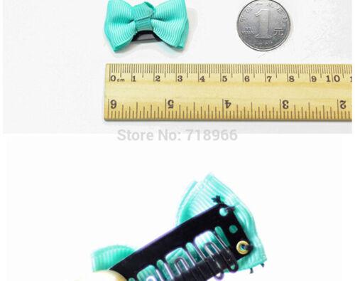 10X Girls Baby Kids Children Hair Accessories Bows Alligator Clips Slides