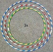Nuevo 3 X Color Multi Niños Adultos Hula Hoop de plástico durable Interior Al Aire Libre Fitness