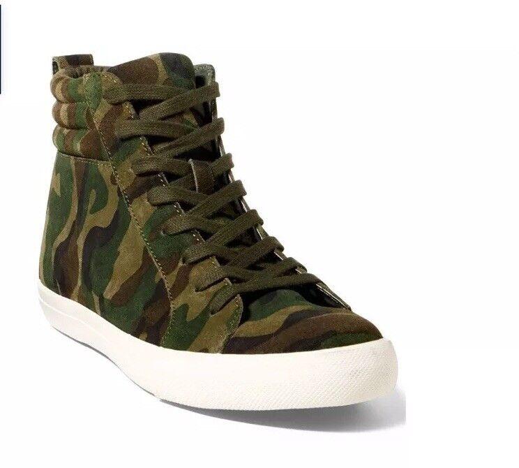 Ralph Uomo Ralph  Lauren Camo Suede Sneakers f93e09