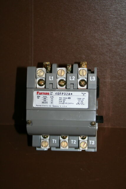 3 POLE 18 AMPS 40CP32AG SIEMENS-FURNAS 240VAC COIL NEMA RATED CONTACTOR