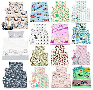 Nursery-Baby-Junior-Bedding-Set-Duvet-cover-Pillowcase-100-Cotton-Crib-Cot