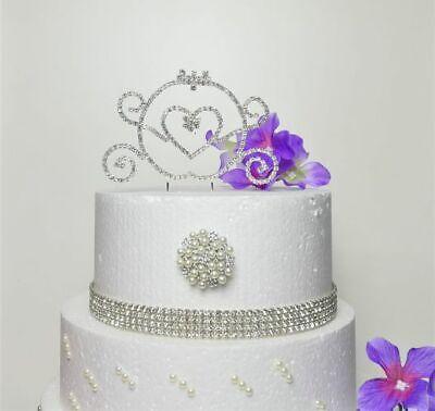 Pleasant Real Rhinestone Princess Carriage Silver Birthday Special Cake Funny Birthday Cards Online Ioscodamsfinfo