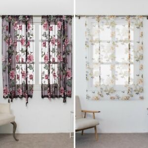 Flower Printed Curtain Kitchen Bathroom