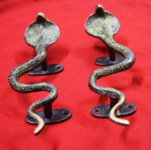 Snake Shape Door Handle Brass Handmade Vintage Style Window Pull Door Decor BM17