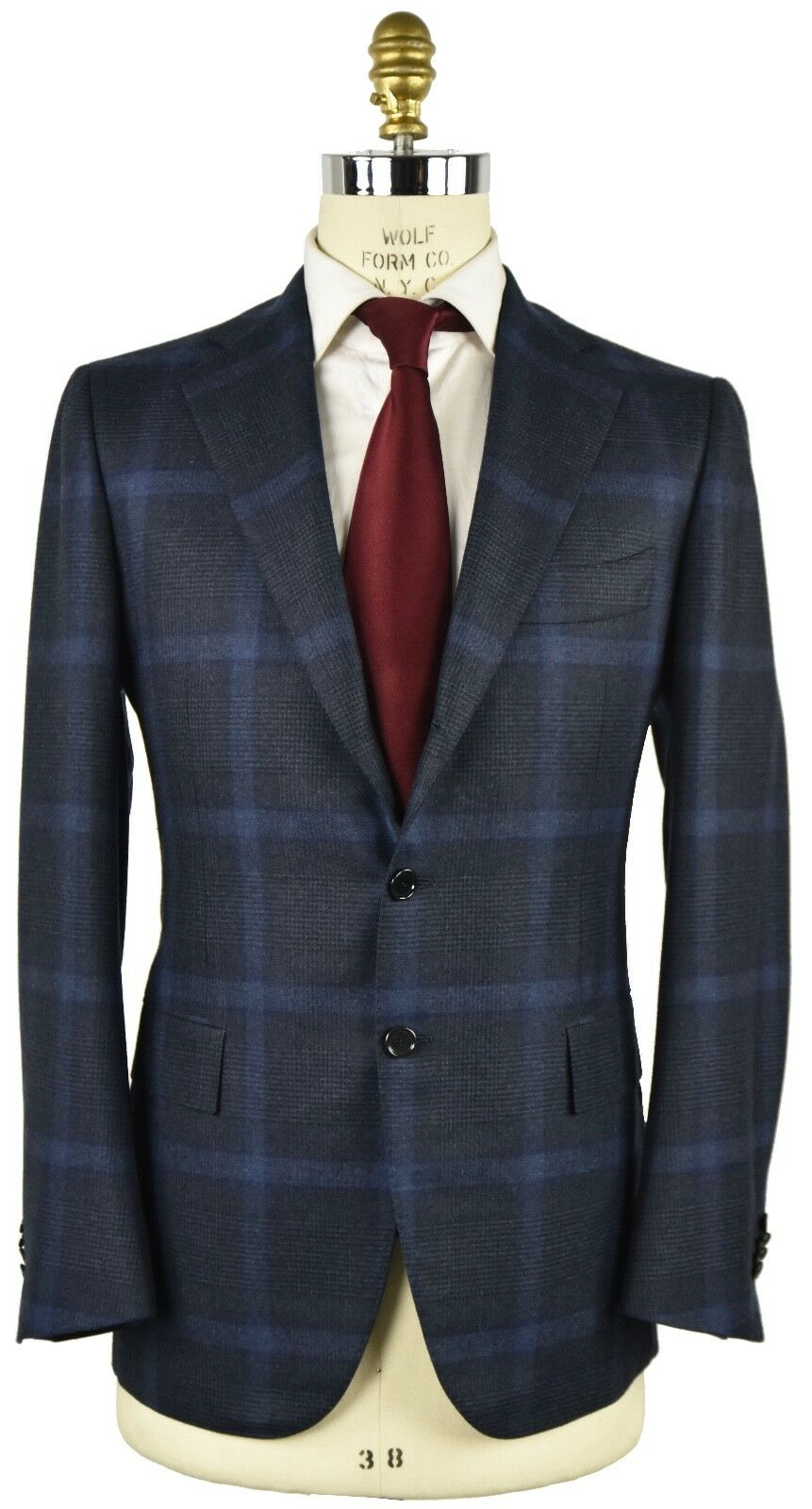 NEW CESARE ATTOLINI SUIT WOOL AND CASHMERE SIZE 38 US 48 EU R7 - ATS14