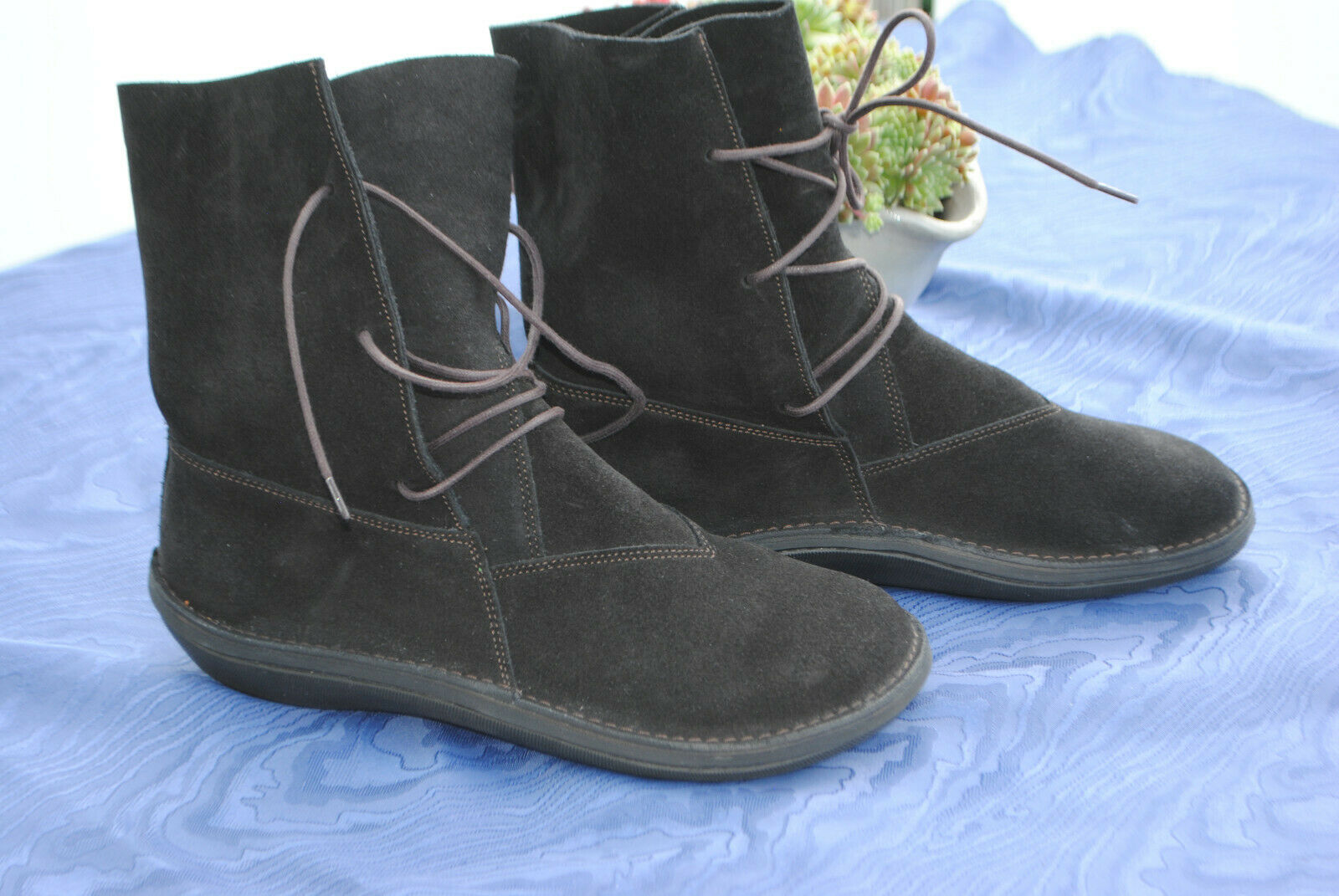 Loints-Stiefel in braunem Wildleder, Größe 38,  NEU, zum Lagenlook