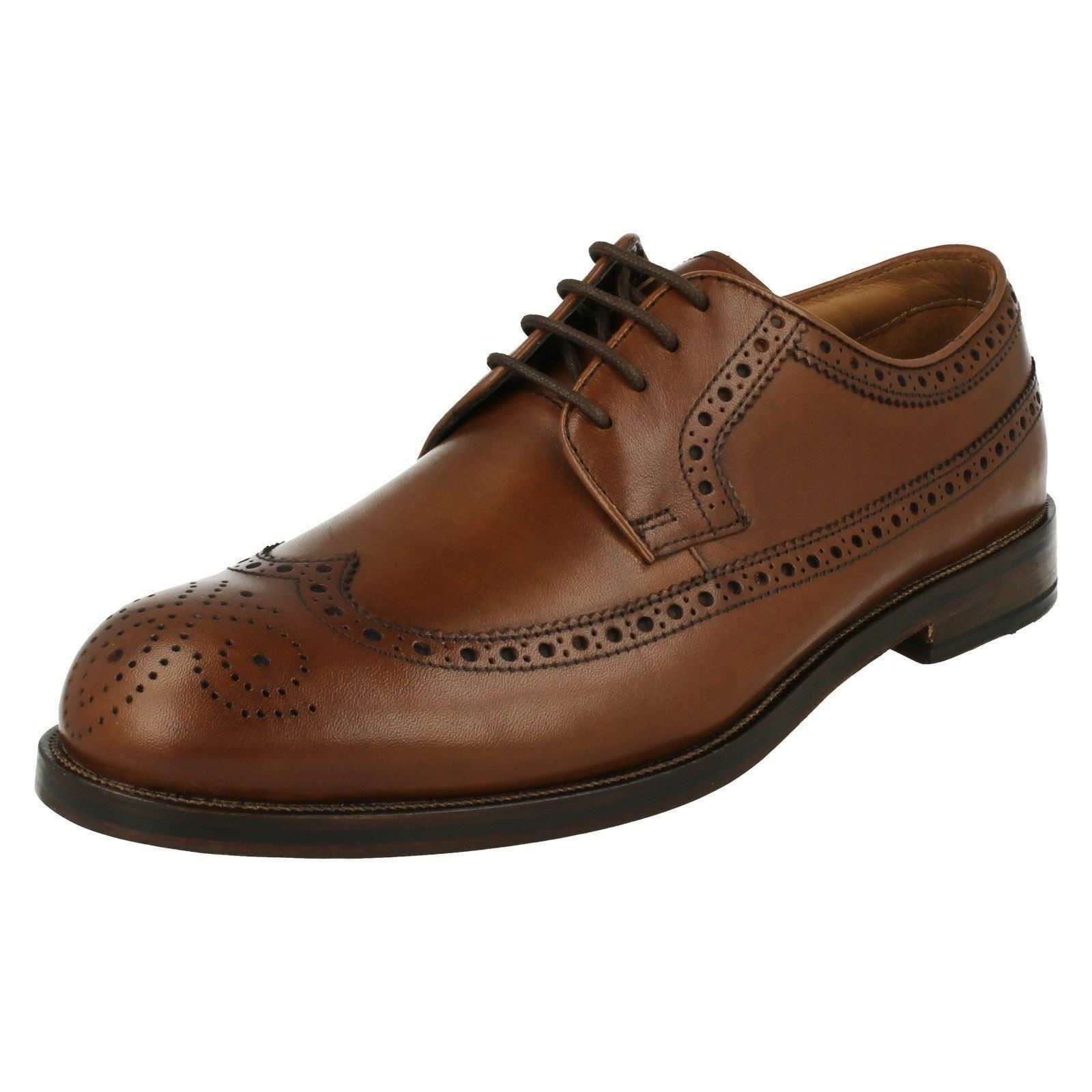 Mens Clarks Coling Limit Smart Black or Tan Leather Lace Up Shoes