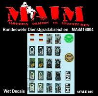 Maim 1:16 Bundeswehr Dienstgradabzeichen - Decals 16004