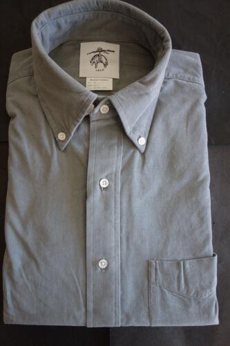 NWOT Brooks Brothers Black Fleece Gray Pincord Buttondown BB1 15.5-33 MSRP $225
