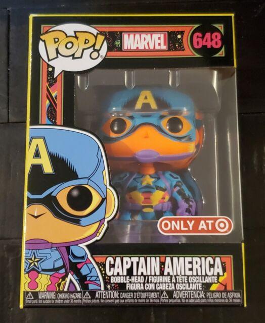 Funko Pop Marvel Captain America Black Light Target Exclusive On Hand