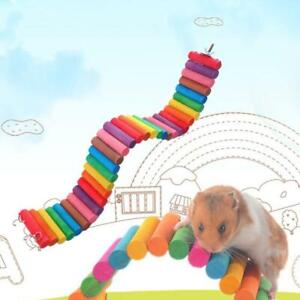 Colorful-Wooden-Pet-Ladder-Bridge-Stair-Gerbil-Hamster-Parrot-Rodent-Rat-Toy
