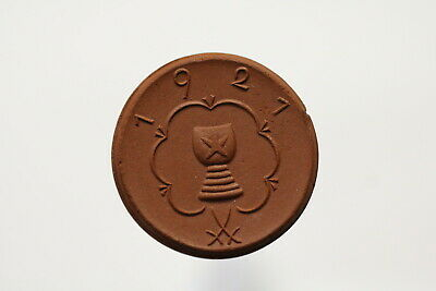 Germany Porcelain Kitzingen 50 Pfennig 1921 B13 Sxy28 Clear-Cut Texture Medals Exonumia