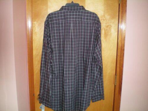 NWT NEW mens l//s purple black gray blue plaid APT 9 cotton shirt $56 retail