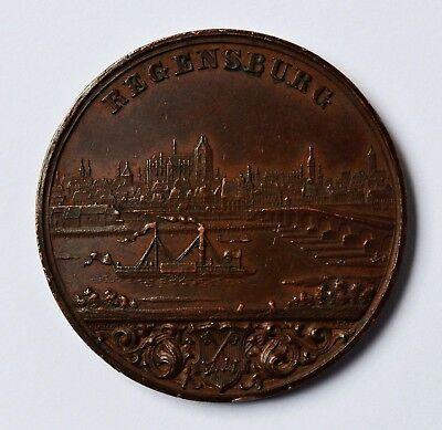 Medaille Bronze Kupfer Industrieausstellung In Regensburg 1849 Industrie Dm 4 Cm Bequemes GefüHl